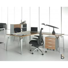 Bureau de Direction en placage bois collection TAK Mobel Linea