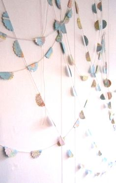 5 Garlands from Vintage Maps 5 x 12 feet Vintage by MagpieandMax