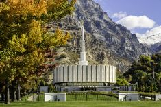Provo Utah Temple in Autumn. LDS. Mormon. The Church of Jesus Christ of Latter-day Saints.