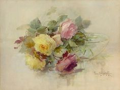 Image Detail for - Franz Bischoff Fresh Roses Oil Painting Reproduction