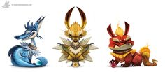 Kanto Illustrations Eeveelutions- Created byPiper Thibodeau