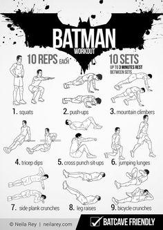 Batman Workout - get strong like Batman
