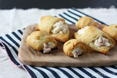 Crab and cream cheese crescent rolls from She Knows  Special dinner night--pinned sometime in July 2013--they were awesome.  Will be making these again.
