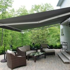 Pergola Ideas For Patio Info: 6735915504 House Awnings, Outdoor Wood, Pergola With Roof, Outdoor Decor, Patio Design, Retractable Awning