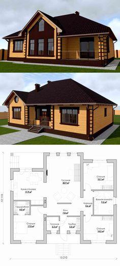 Готовый проект дома 12х15 метров