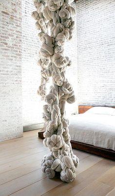 Textile artist Dana Barnes experiments