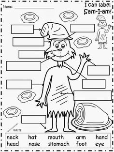 Sam I Am Free Printable.  This is a great site with lots of free printables.