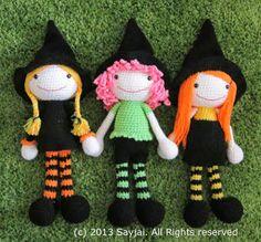 The 3 Witches Amigurumi Pattern ~ Amigurumi crochet patterns ~ K and J Dolls / K and J Publishing