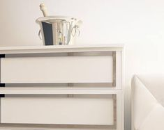 Finally, you can transform your IKEA® with these easy to apply furniture pads. These furn Malm Dresser, Dresser Furniture, Bedroom Dressers, Dresser With Mirror, Furniture Decor, Furniture Outlet, Bedroom Furniture, Furniture Stores, Discount Furniture