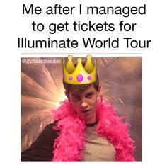 I went to world tour, im so proud of him.
