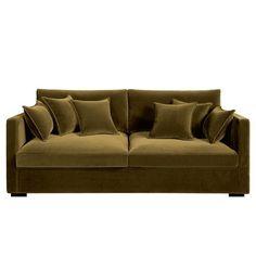 Canapé fixe 3/4 ou 5 places NÉO KINKAJOU, velours.Fabrication française.Une assise très profonde et une ligne contemporaine au confort particulièrement douillet.Confort d'assise : accueil moelleux, soutien souple.Confort dossier : moelleux et enveloppant.Assise : haute et profonde.Dimensions du canapé NÉO KINKAJOU :- 3/4 places : L185 x H85 x P110 cm (avec 2 coussins de dossier et 2 coussins d'assise). Assise : L161 x H43 x P65 cm.- 5 places : L215 x H85 x P110 cm (avec 2 coussins d...