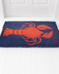 Our new lobster doormat by Hable Construction offers a vivid representation of a carefree, tropical getaway made to enjoy every day.