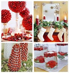 Ideas+for+Fresh+Cranberries | ... (top right photo): Fill glass vases with cranberries and candles