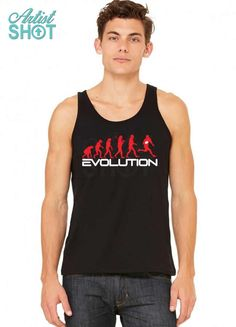 3fe5ddcd10501 Custom Evolution Of Rugby Funny Tank Top By - Artistshot
