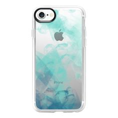 Teal Fingerprints - iPhone 7 Case And Cover (122.350 COP) ❤ liked on Polyvore featuring accessories, tech accessories, phonecases, phones, iphone case, iphone cases, teal iphone case, clear iphone case, iphone cover case and apple iphone case
