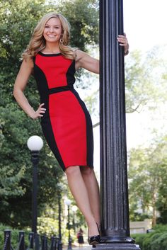 UGA senior photo in Athens! - stand on the Arch! Love this black and red dress. Claire Diana Photography: Nicole's Grad Photos