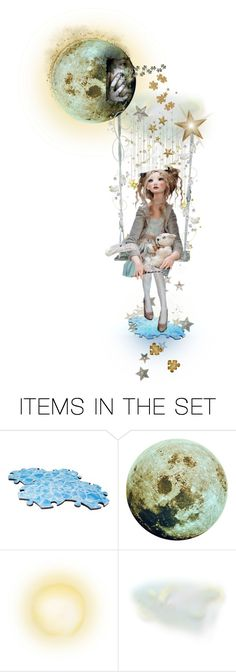 """""""The Puzzled Moon"""" by felicia-mcdonnell ❤ liked on Polyvore featuring art and polyvoreeditorial"""
