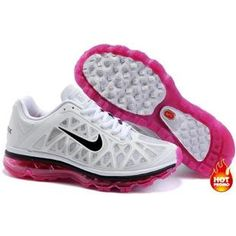 Nike Air Max 2011 Women Mesh Shoes White/Rosepink/Black Color