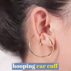 Ear Jewelry, Jewelery, Jewelry Accessories, Jewelry Design, Art Deco Earrings, Cuff Earrings, Elf Ear Cuff, Fake Piercing, Fantasy Jewelry