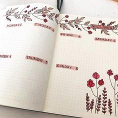 25 Awesome Bullet Journal Ideas to Boost your Motivation Bullet journal floral weekly spraed<br> 👉 This article at least will provide ❤️️ 25 awesome bullet journal ideas ❤️️ that might be the ideal solution for you. Bullet Journal Notebook, Bullet Journal Inspo, Bullet Journal Spread, Bullet Journal Layout, Bullet Journal Ideas Pages, Journal Inspiration, Decor Inspiration, Bujo Planner, Weekly Planner