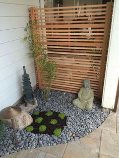 A Japanese garden Ross NW Watergardens designed and installed for a Wilsonville, OR client. This small garden includes a water feature (tsukubai), new patio, bo… #JapaneseGarden