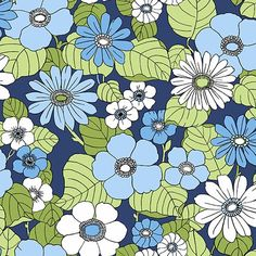 Turn your living space into a tropical escape with the Eco Wallpaper Capriana Floral Burst Wallpaper . Its large flowers bring an island vibe to interiors. Blue Floral Wallpaper, Navy Wallpaper, Botanical Wallpaper, Embossed Wallpaper, Wallpaper Online, Wallpaper Samples, Geometric Wallpaper, Blue Wallpapers, Wallpaper Roll