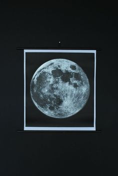 Moon Chart Print Signed Silkscreen two color (silver + black) by AgentGallery