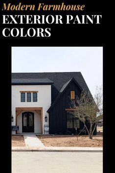 Designer tested and approved color schemes for your modern farmhouse exterior! Best Exterior Paint, Exterior Paint Colors, Modern Farmhouse Exterior, Modern Farmhouse Style, Exterior Paint Color Combinations, Color Schemes, Modern Architecture, House Design, House Styles