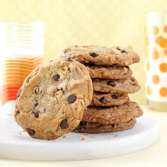 Big & Buttery Chocolate Chip Cookies Recipe -My version of the classic cookie is based on a recipe from a bakery in California called Hungry Bear. It's big, thick and chewy—perfect for dunking. —Irene Yeh, Mequon, Wisconsin