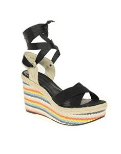 ASOS HAZEL Wedges with Rainbow Print