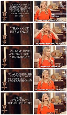 """""""Who said it?"""" Downton Abbey Cast ..Tied for last but still infinitely adorable way to go jo   downton abbey   joanne froggatt   anna in 6.2 laughing about dragging pamuk through the halls   .."""