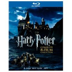 """Harry Potter: The Complete 8 Film Collection, in Blu-ray!  This is a """"must own"""" for any serious Harry Potter fan!  I want.  :-)"""