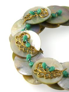 RESERVED  Button Necklace Green Turquoise by TrinketsNWhatnots, $40.00