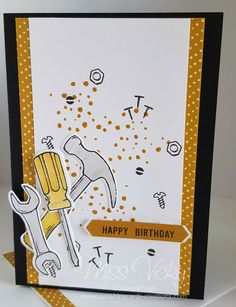 """2017 Occasions Catalogue, """"Nailed It"""" Bundle, """"Nailed It"""" Stamp Set, """"Build It"""" Framelits, Male Birthday, Urban Underground Washi Tape, Free Tutorial - https://sunshinecards-creations.com/2017/02/25/happy-birthday-fms-276/ , Stampin' Up!"""