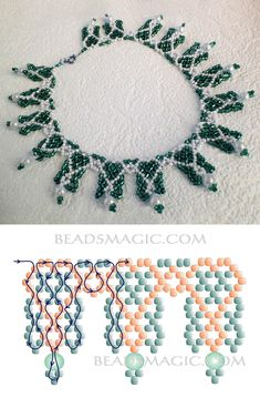 Best Seed Bead Jewelry 2017 Schema for Sweet Berries Necklace Seed Bead Tutorials Seed Bead Jewelry, Bead Jewellery, Jewelry Making Beads, Jewellery Making, Diy Necklace Patterns, Beaded Jewelry Patterns, Necklace Ideas, Beading Patterns Free, Beading Tutorials