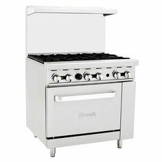 "Migali C-RO6-NG 36"" 6 Burner Gas Range w/ Standard Oven, Natural Gas · $1,149.00 Gas Range Top, Restaurant Equipment, Cooking Equipment, Oven, Kitchen Appliances, Natural, House, Ideas, Haus"
