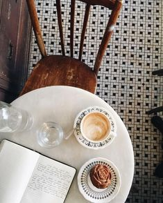 Nothing fixes a somber mood more than a cup of warm coffee, an empty journal page, and a cinnamon sweet. But First Coffee, I Love Coffee, Coffee Break, My Coffee, Morning Coffee, Coffee Cups, Starbucks Coffee, Coffee Drinks, Superfood