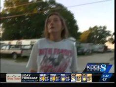 Iowa woman throws racial slur at reporter - YouTube