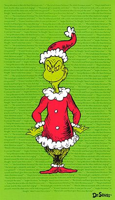 "How the Grinch Stole Christmas 4 - Portrait - 24"" x 44"" PANEL"