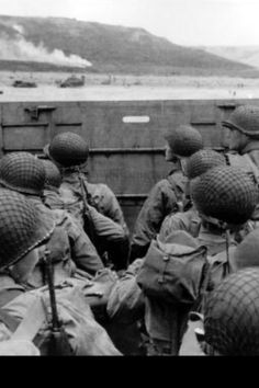The unnerving view from the landing craft on June 6th 1944