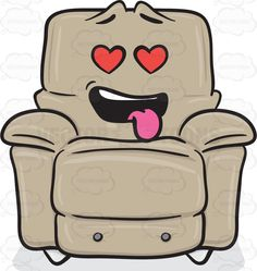 Love Struck Stuffed Chair Emoji #accent #attracted #attraction #bulky #cinemachair #comfort #comfortable #foam #furniture #hanging #heart #hearts #inlove #infatuated #lazyboy #leatherchair #lightbrown #livingroom #love #moviechair #puffy #recliner #reclinerchair #recliningchair #soft #softness #stuffedchair #tongue #upholstered #upholstery #vector #clipart #stock