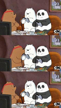 we bare bears wallpaper We Bare Bears Wallpapers, Panda Wallpapers, Cute Cartoon Wallpapers, Animes Wallpapers, Foto Cartoon, Bear Cartoon, Ice Bear We Bare Bears, We Bear, Cute Disney Wallpaper