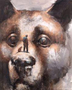 Too close. 160cm x 130cm. Acrylic and oil on canvas. 2011. Samuli Heimonen