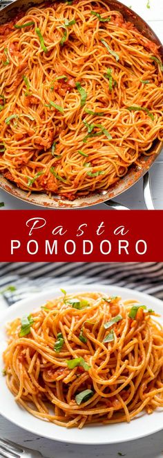 Pasta Pomodoro is a quick and easy pasta dish that will quickly become a family favorite. This quick pasta sauce is full of tomato flavor. It's simple, tasty, and total comfort food. Use your freshly made pasta from the Philips Pasta Maker. Easy Pasta Dishes, Easy Pasta Recipes, Food Dishes, Easy Meals, Dishes Recipes, Quick Recipes, Sauce Recipes, Italian Dishes, Italian Recipes