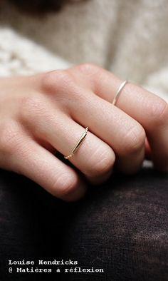 TUBE // Louise Hendricks 'Tube' ring @ Matières à réflexion