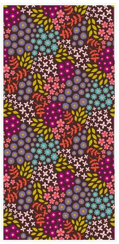 Organic Cotton Fabric - Mini Floral Print in Spring Colors