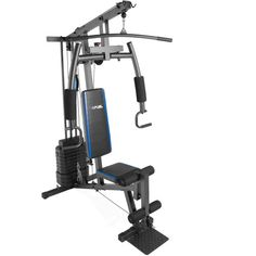 Fuel Pureformance Home Gym with 125 lb Weight Stack, Assorted Styles, Black Gym Workouts, At Home Workouts, Big Muscle Training, Lat Pulldown, Cable Machine, Leg Press, Bench Press, At Home Gym, Total Body