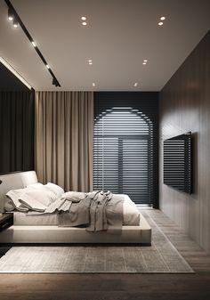 Modern Luxury Bedroom, Luxury Bedroom Design, Bedroom Closet Design, Master Bedroom Design, Luxurious Bedrooms, Home Interior Design, Modern Bedroom Lighting, Contemporary Bedroom, Apartment Interior