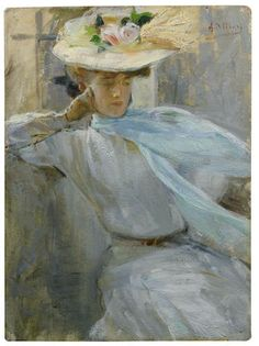 Alessandro Milesi (Italian, 1856-1945) Portrait of Virginia Oldoini, Contessa di Castiglione