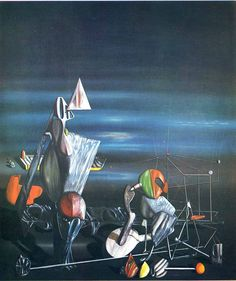 Mama, Papa is Wounded!, 1927 by Yves Tanguy. Surrealism. landscape